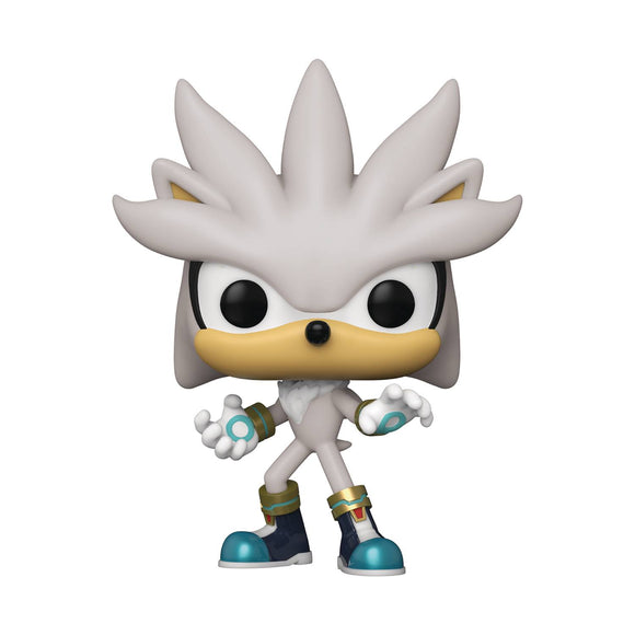 Pop Games Sonic 30Th Silver The Hedgehog Vinyl Fig