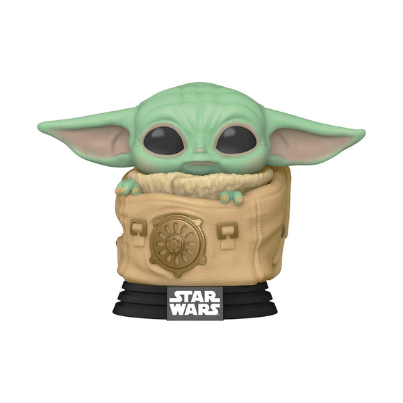 Pop Star Wars Mandalorian Child With Bag Vinyl Fig
