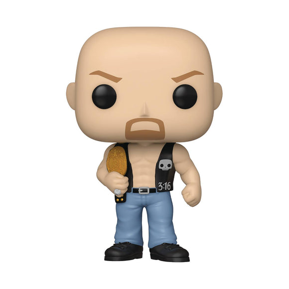 Pop Wwe Sc Steve Austin W/ Belt Vin Fig