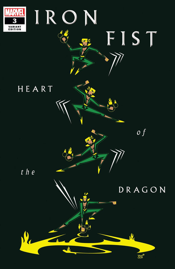 Iron Fist Heart Of Dragon #3 (Of 6) Veregge Var