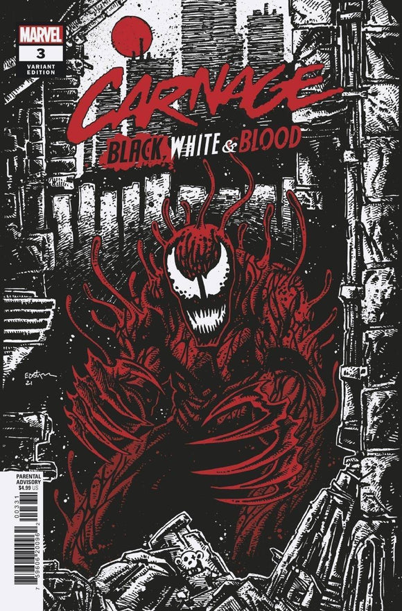 Carnage Black White And Blood #3 (Of 4) Artist B Var