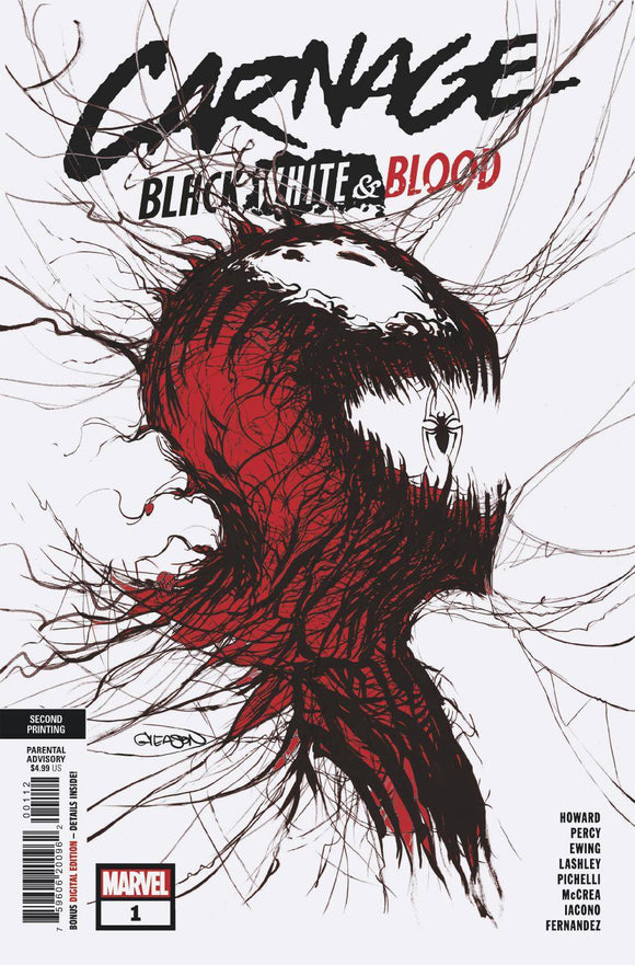Carnage Black White And Blood #1 (Of 4) 2Nd Ptg