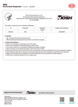 Load image into Gallery viewer, BYD NiOSH approval form