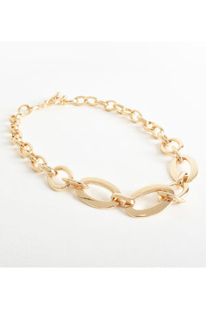 Short Chunky Gold Necklace