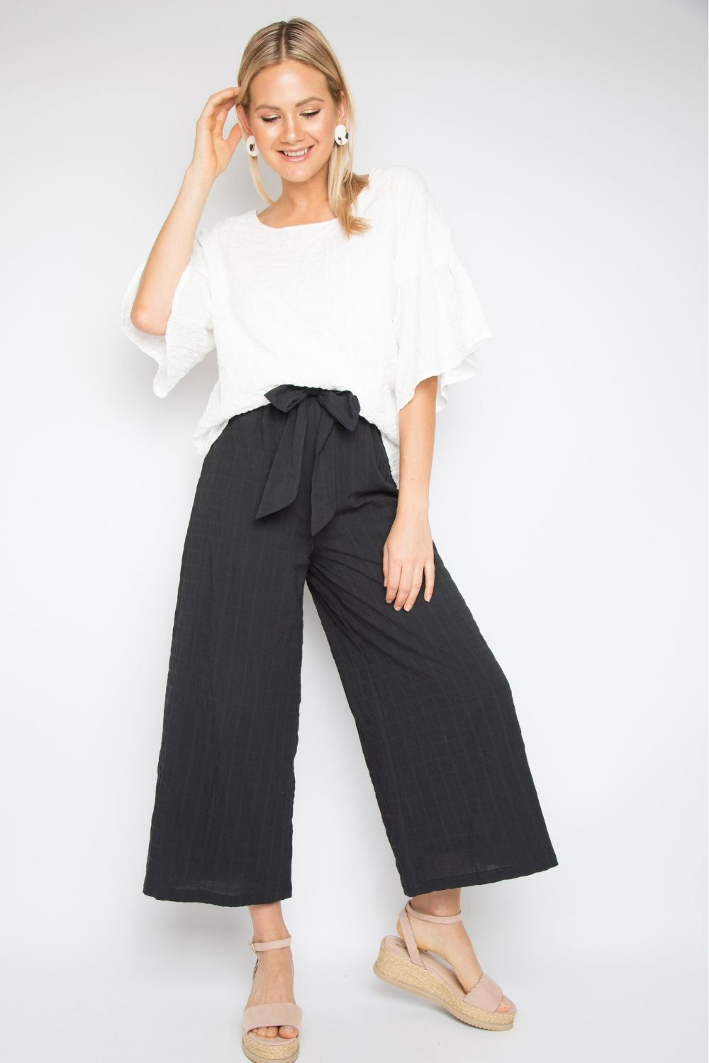 RO Corinth 3/4 Elastic Pant In Black