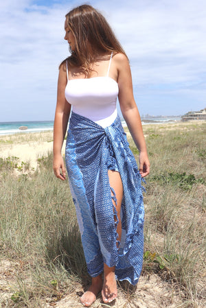Take Me Away Sarong In Blue