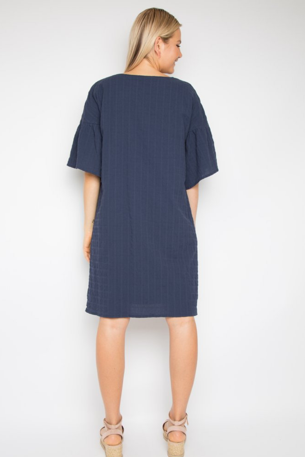 RO Corinth Dress In Navy