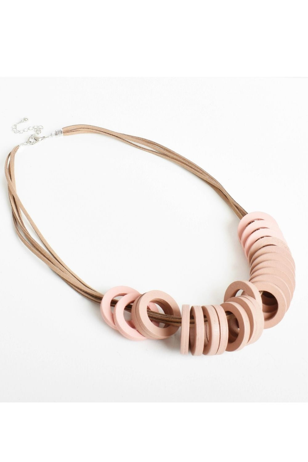 Timber Ring Necklace In Mocha