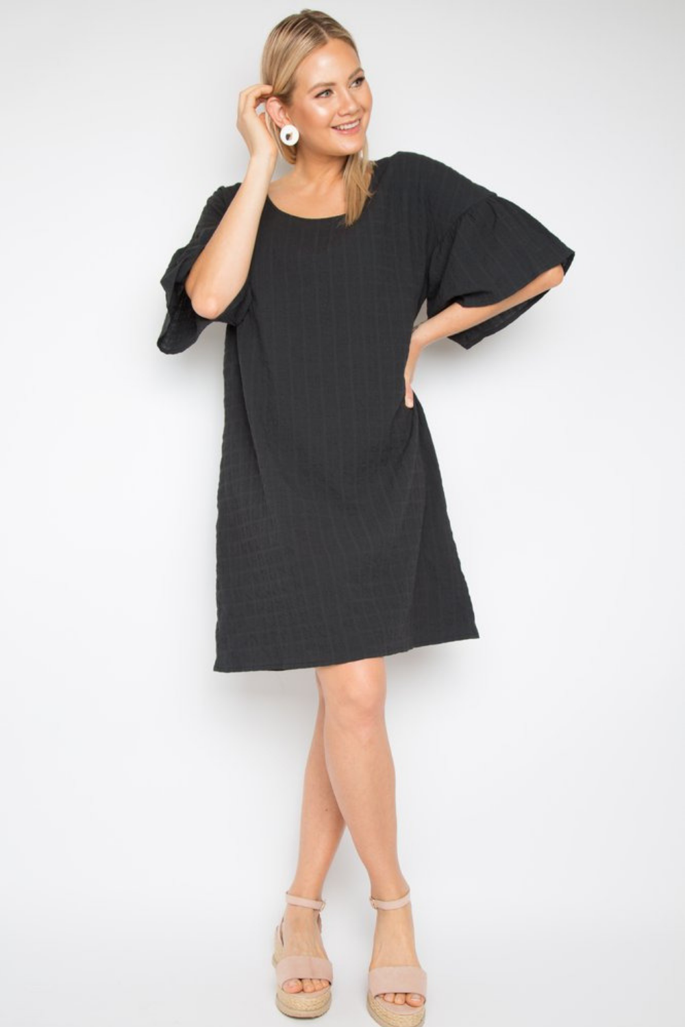 RO Corinth Dress In Black