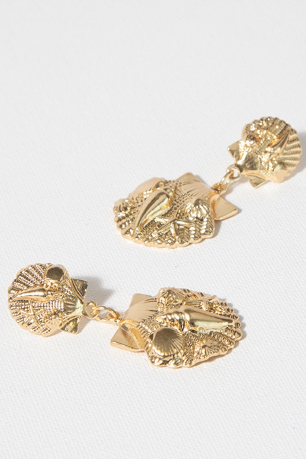 Marine Life Earrings In Gold