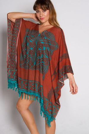 Short Tunic with Tassels In Matrix