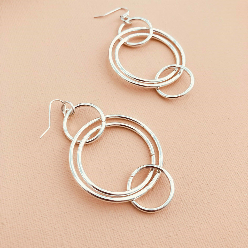 Metal Ring Hoop Earrings