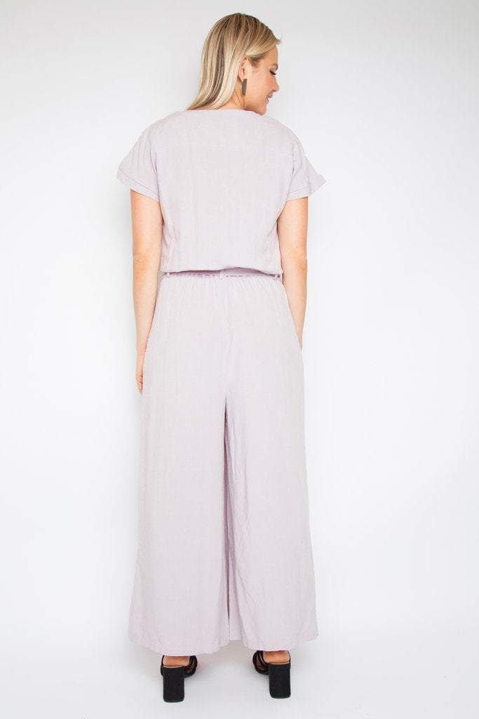 RO Paris Jumpsuit In Soft Mauve