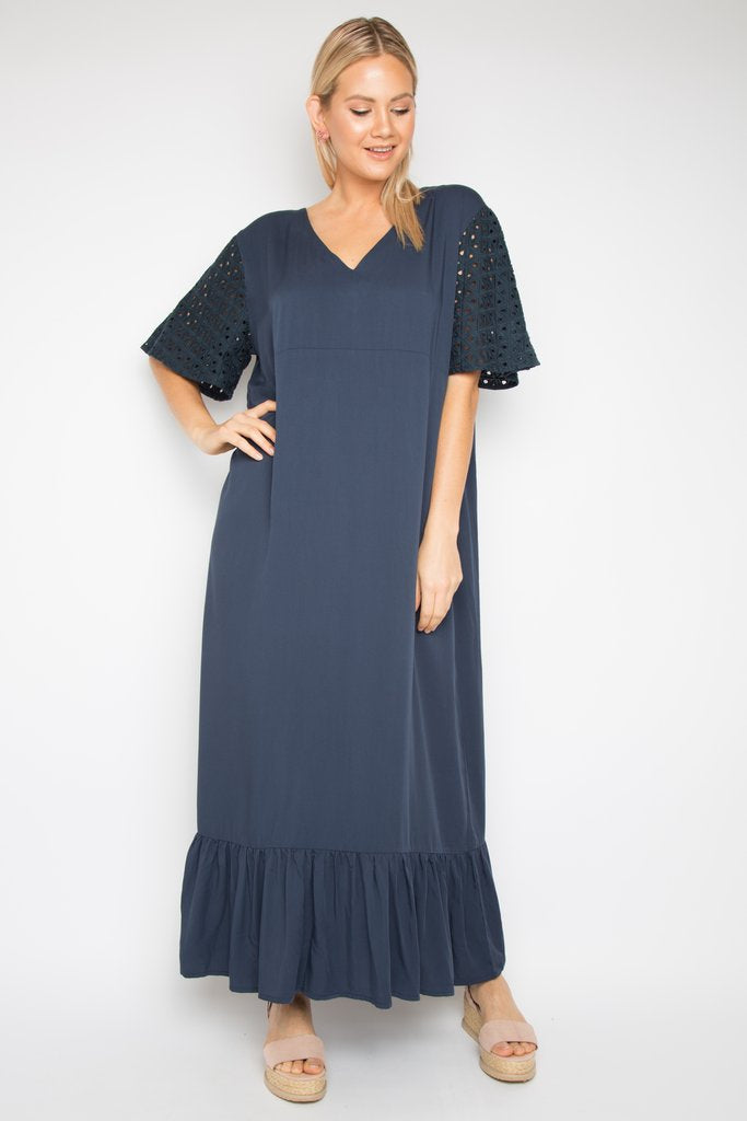 RO Florence Maxi Dress in Navy
