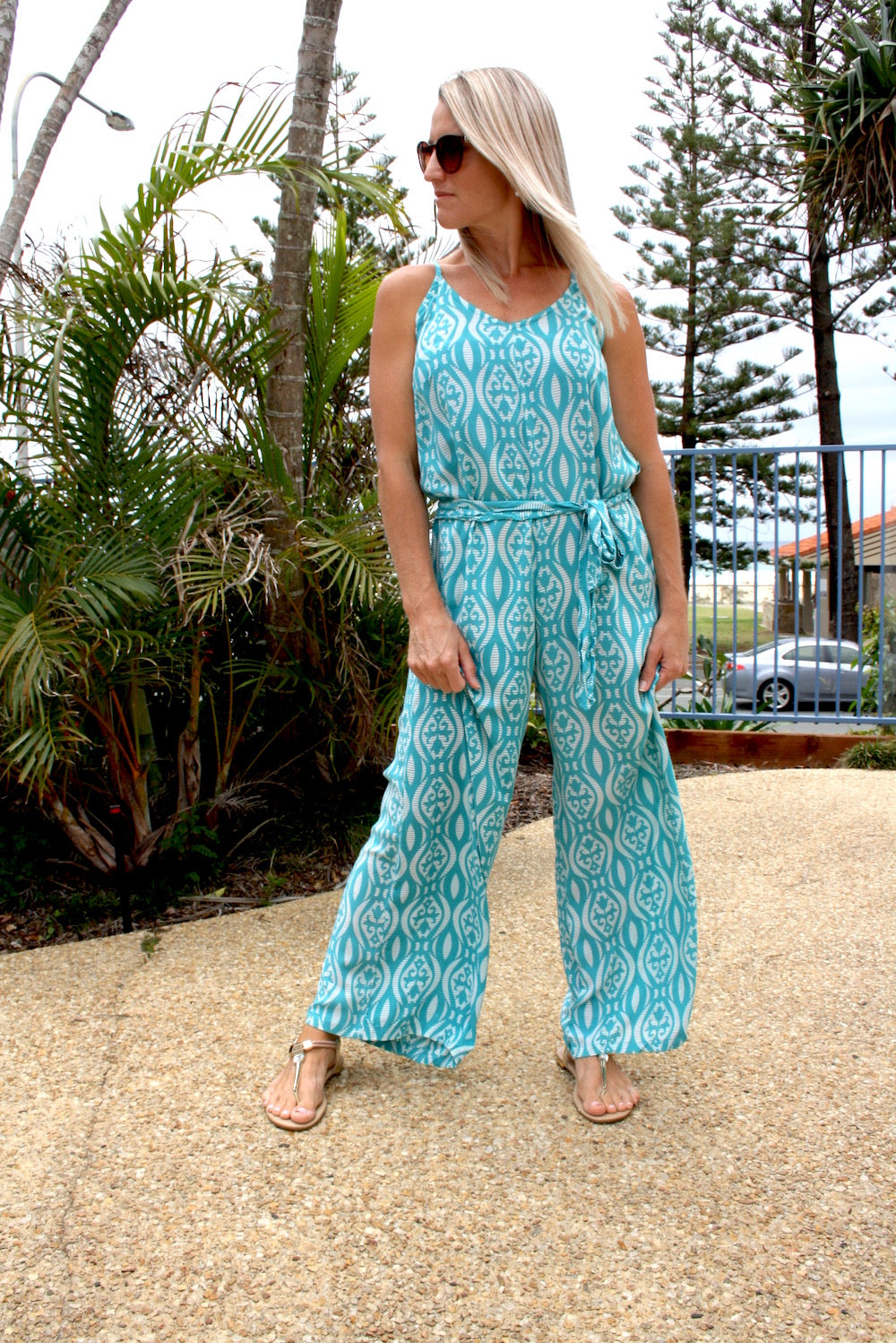Sunday Chill Jumpsuit Teal