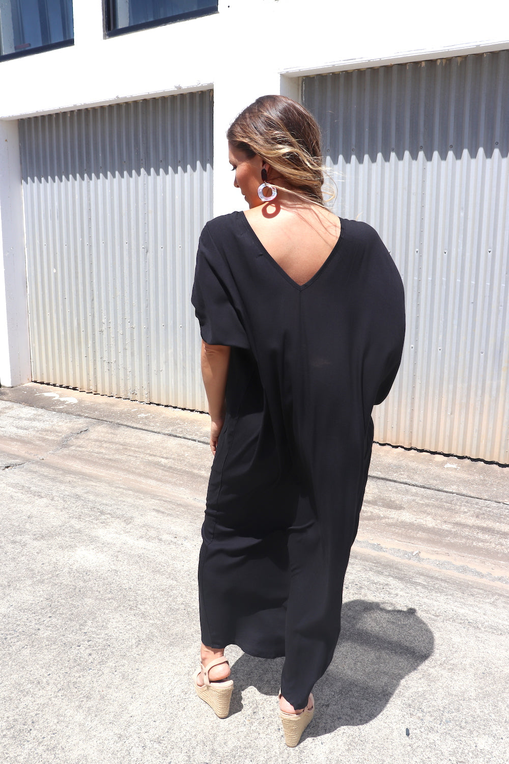 RO Honolulu In Black Long Maxi