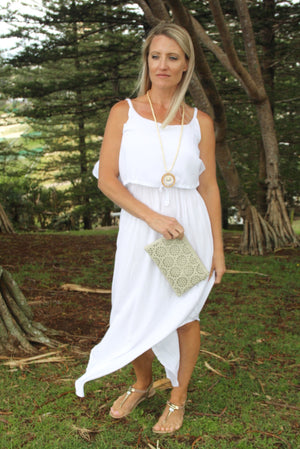 Byron Maxi Dress In Pure White