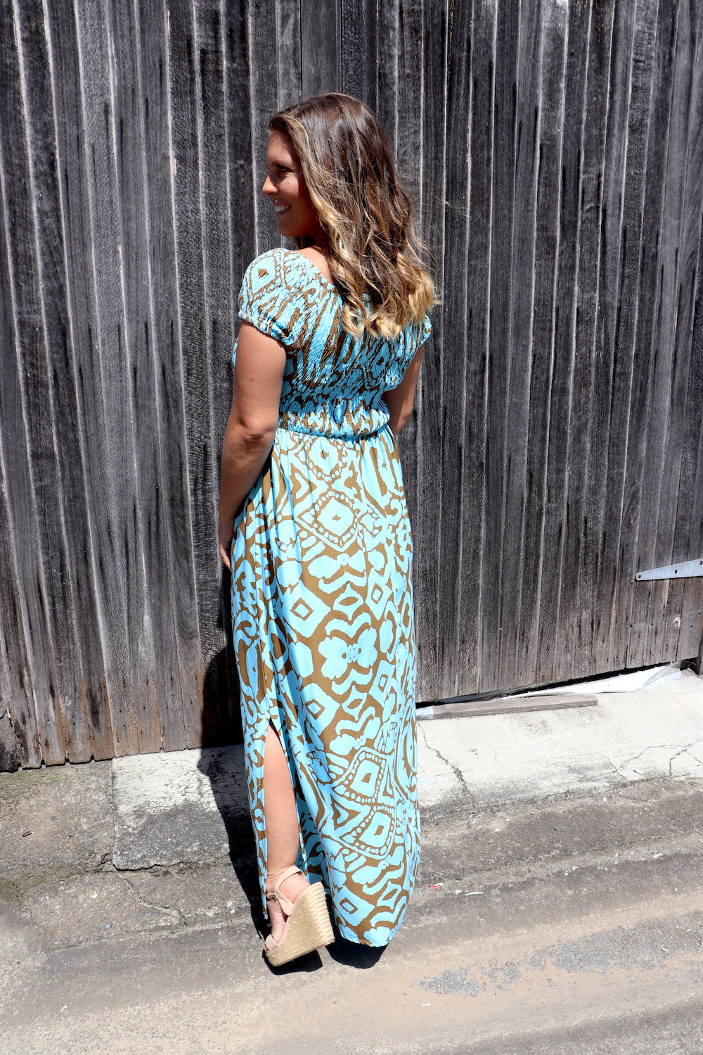 RO Day off Long Maxi Dress In Amazon