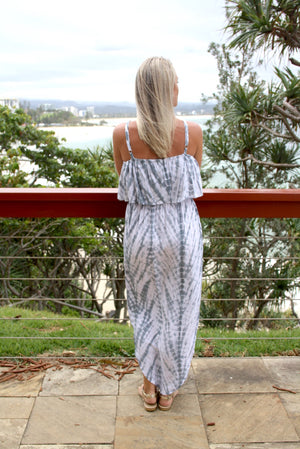 Byron Dress In Grey Splash