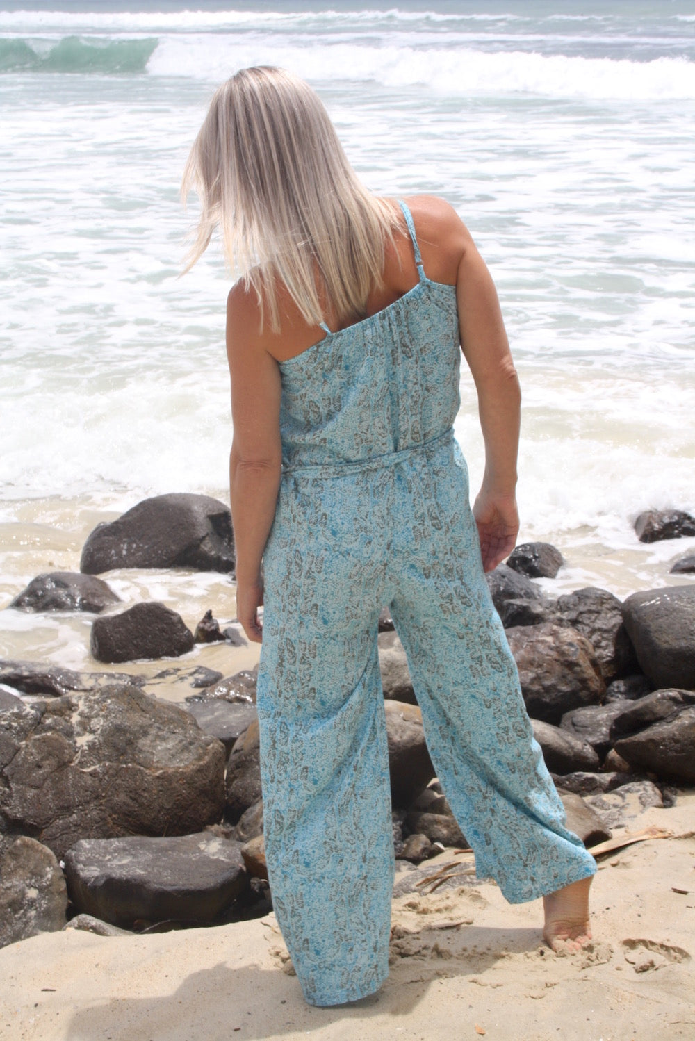 Sunday Chill Jumpsuit In Blue
