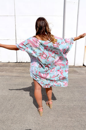 RO Set Free Batwing Top/Dress In Paradise