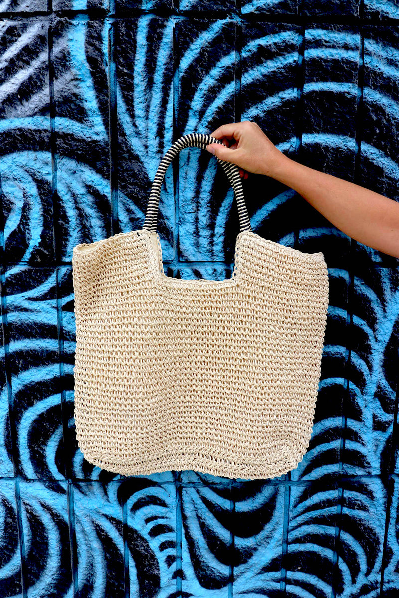 RO Beach Raffia Bag