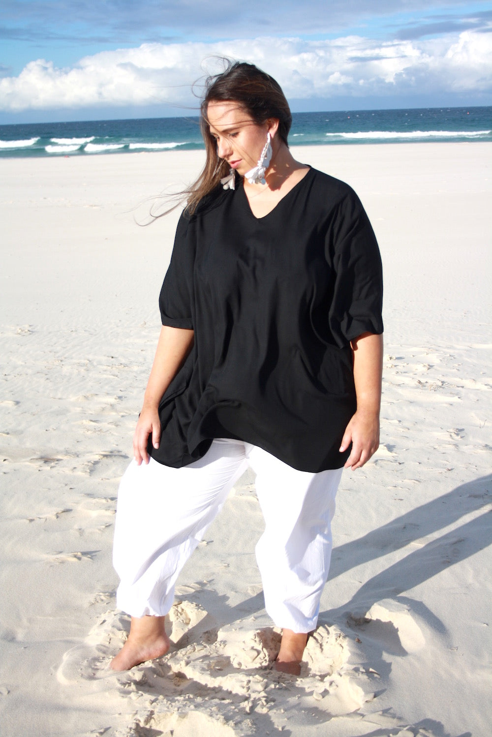 Short Tunic In Black
