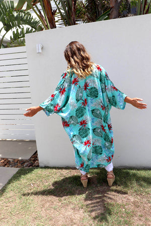 Birds Of Paradise Cape In Mint