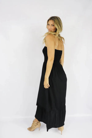 RO Florence Strapless Dress In Black