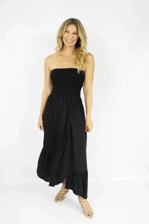 Florence Strapless Dress In Black