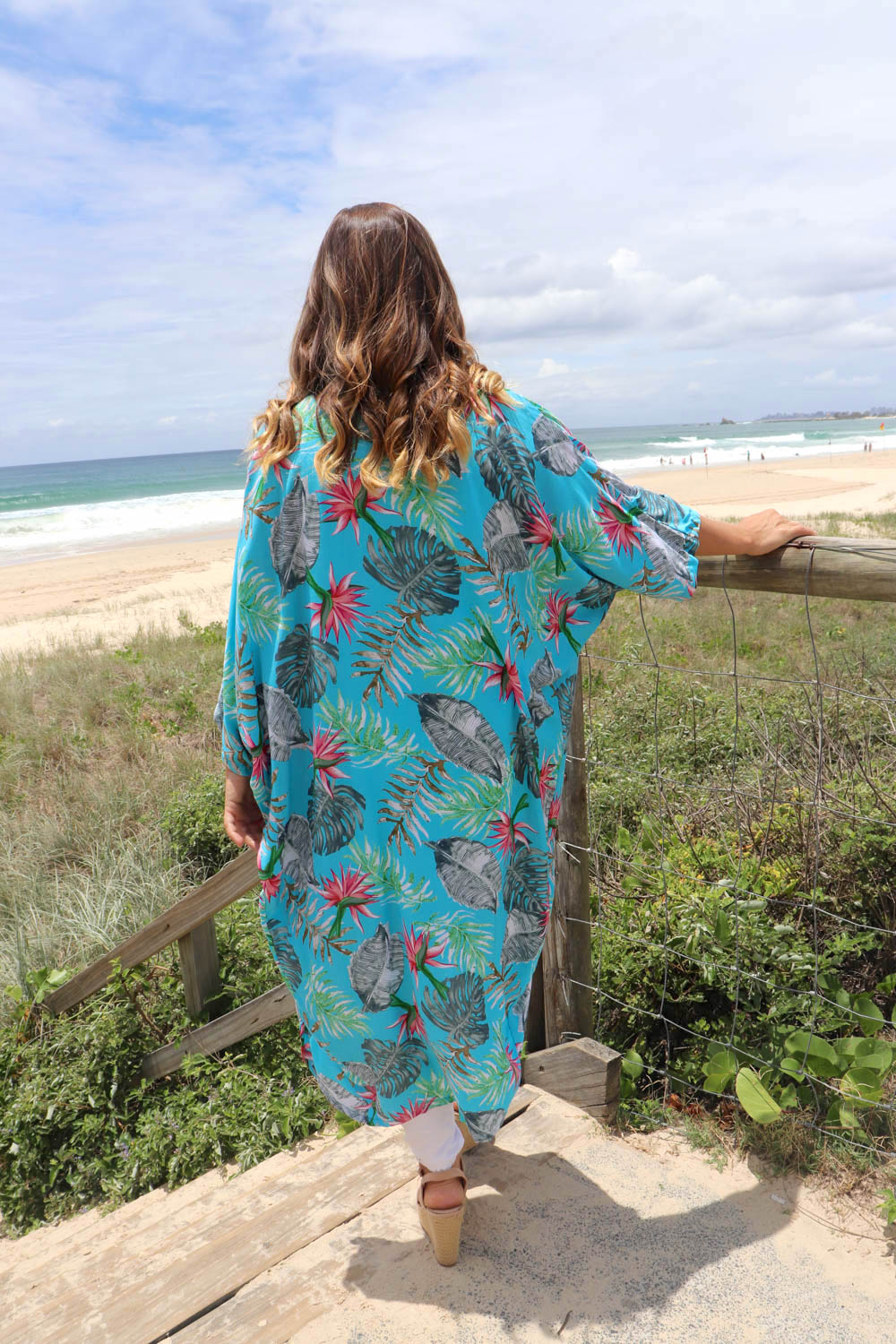 Birds of Paradise Cape In Blue
