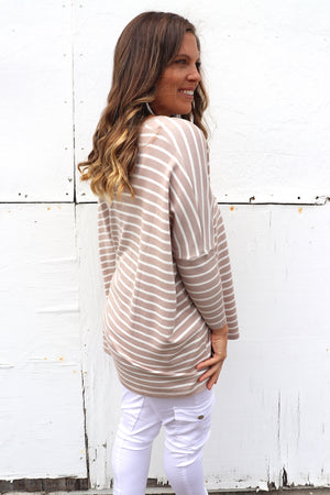 Oversize Sweater In Sand