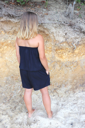RO Maldives Short Jumpsuit In Black