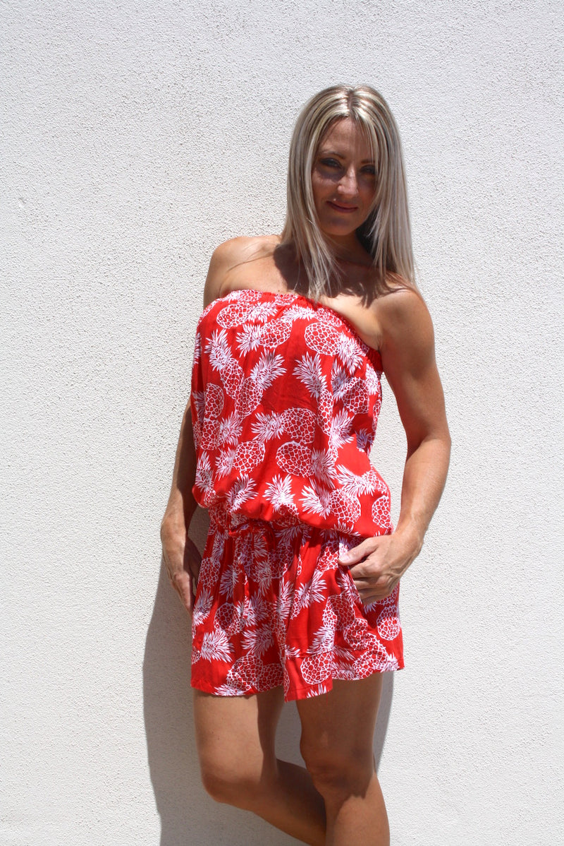 Maldives Jumpsuit -  Pineapples In Coral
