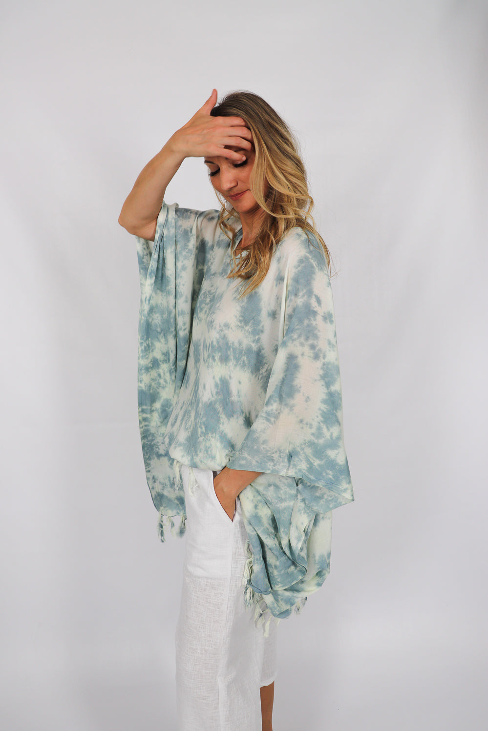 Clouds Short Tunic with Tassels