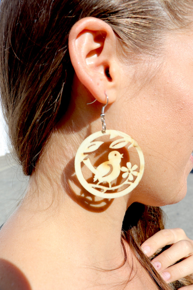 Light as a Feather Wood Earrings
