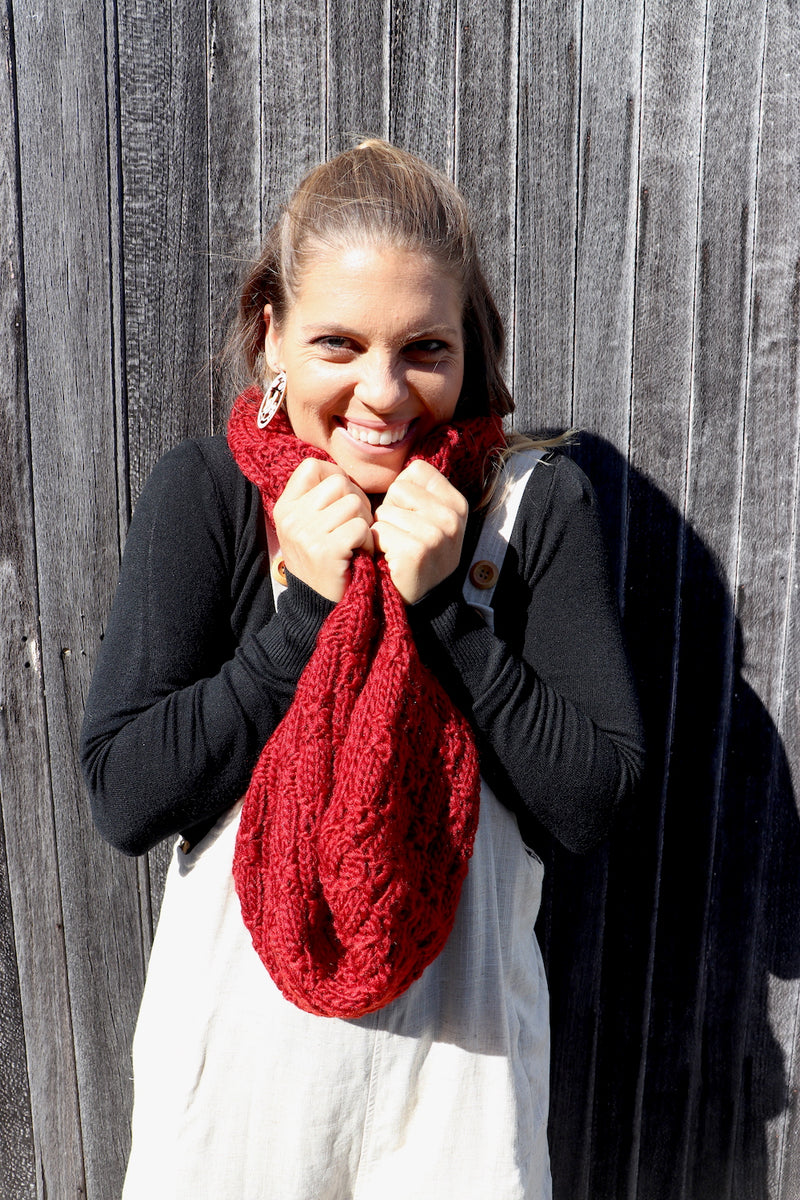 Maroon Snood