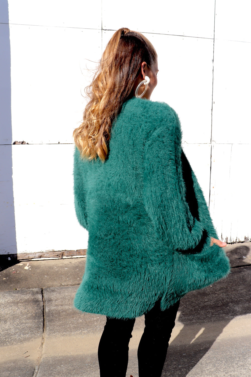 Soft Winter Cardi in Bottle Green