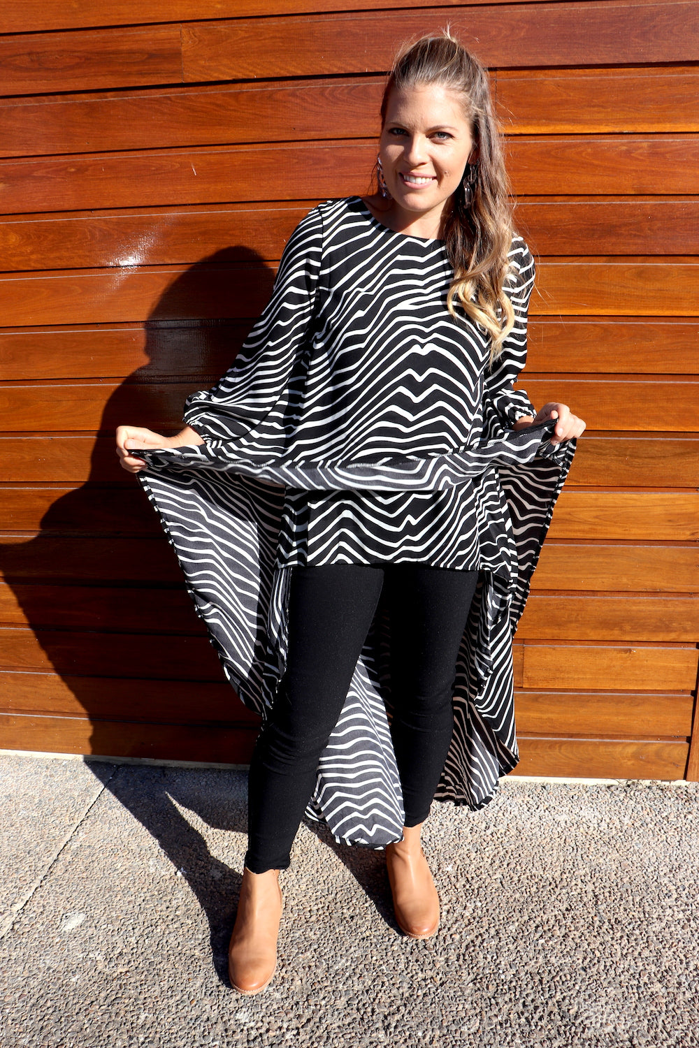 Long Sleeve Cape Top
