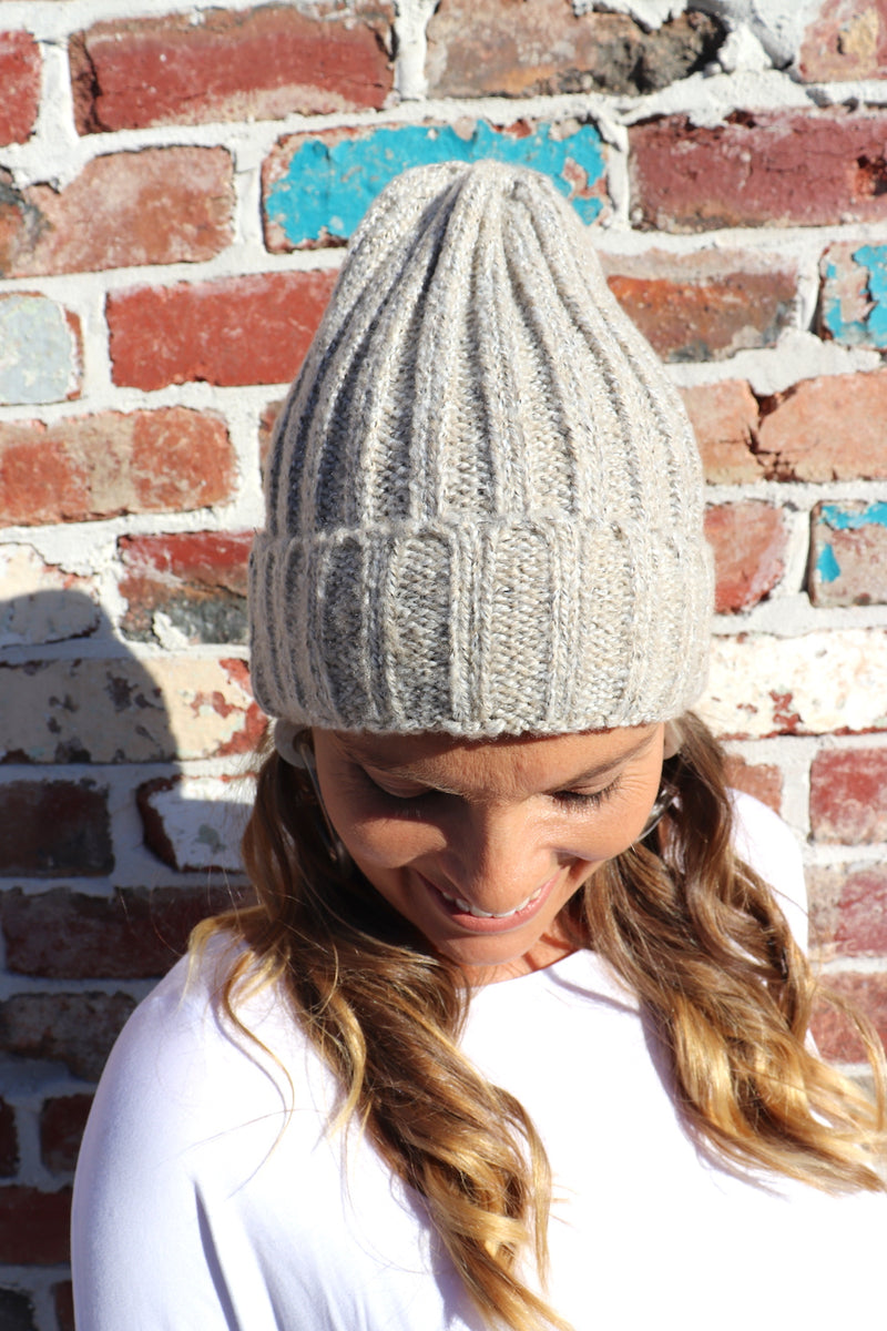 Winter Beanie in Oatmeal