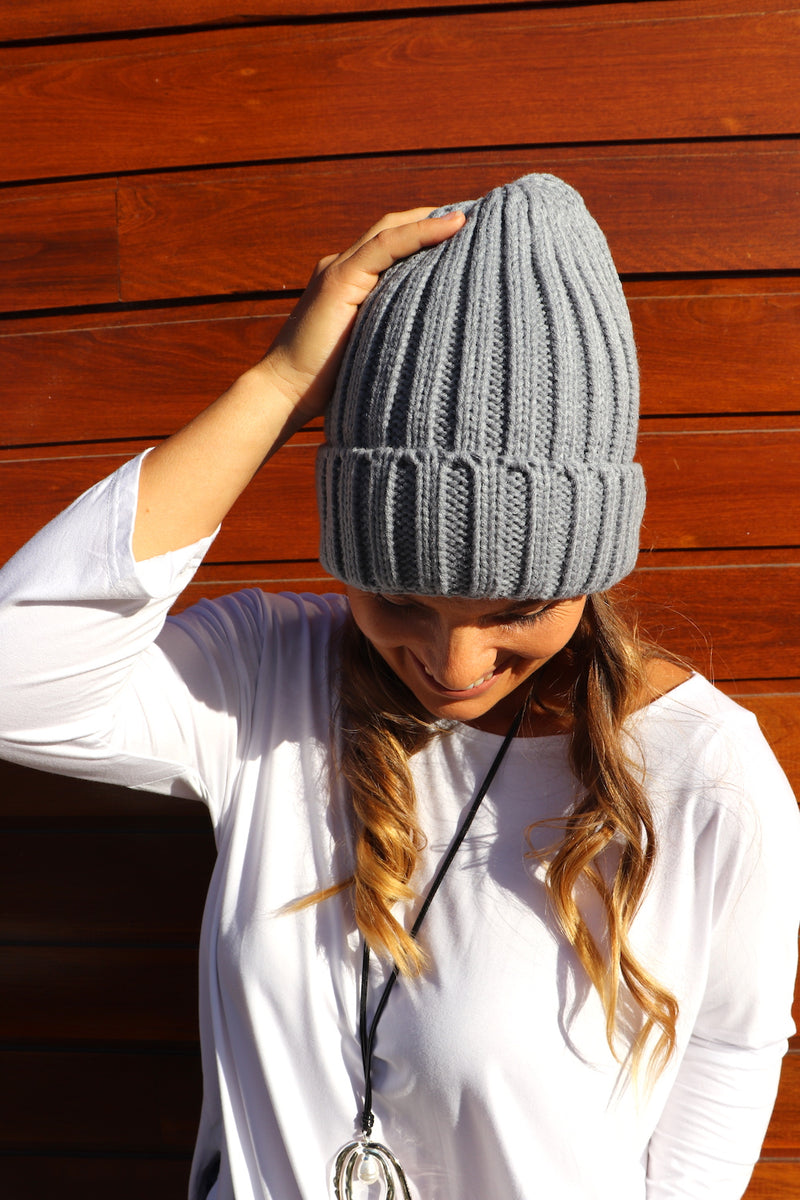 Winter Beanie in Grey