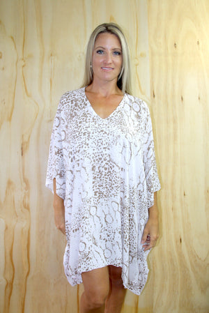 Short Tunic In Safari Taupe