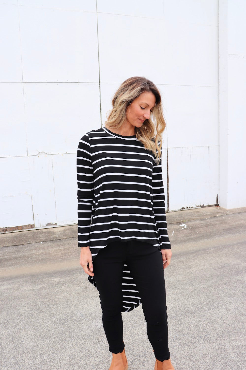 Cape Back Long sleeve Jersey Top
