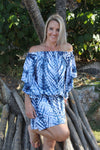 Holiday Dreaming Short Beach Dress/Top In Blue Splash