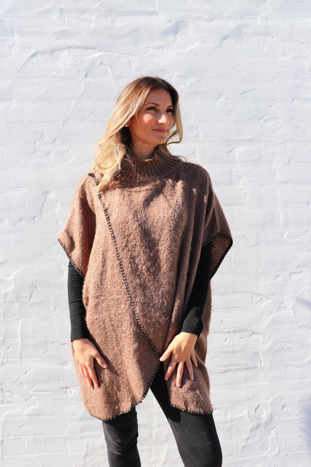Chocolate Brulee Vest/Poncho