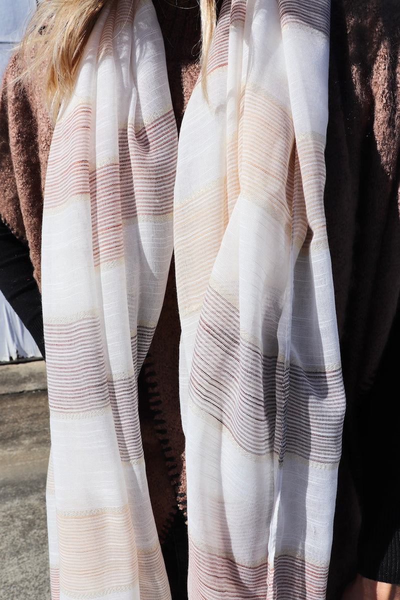 Marley Colourblock Scarf in Neutrals