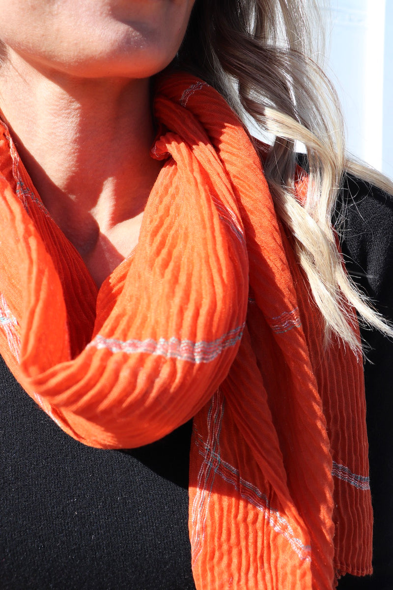 Everyday Scarf in Tangerine