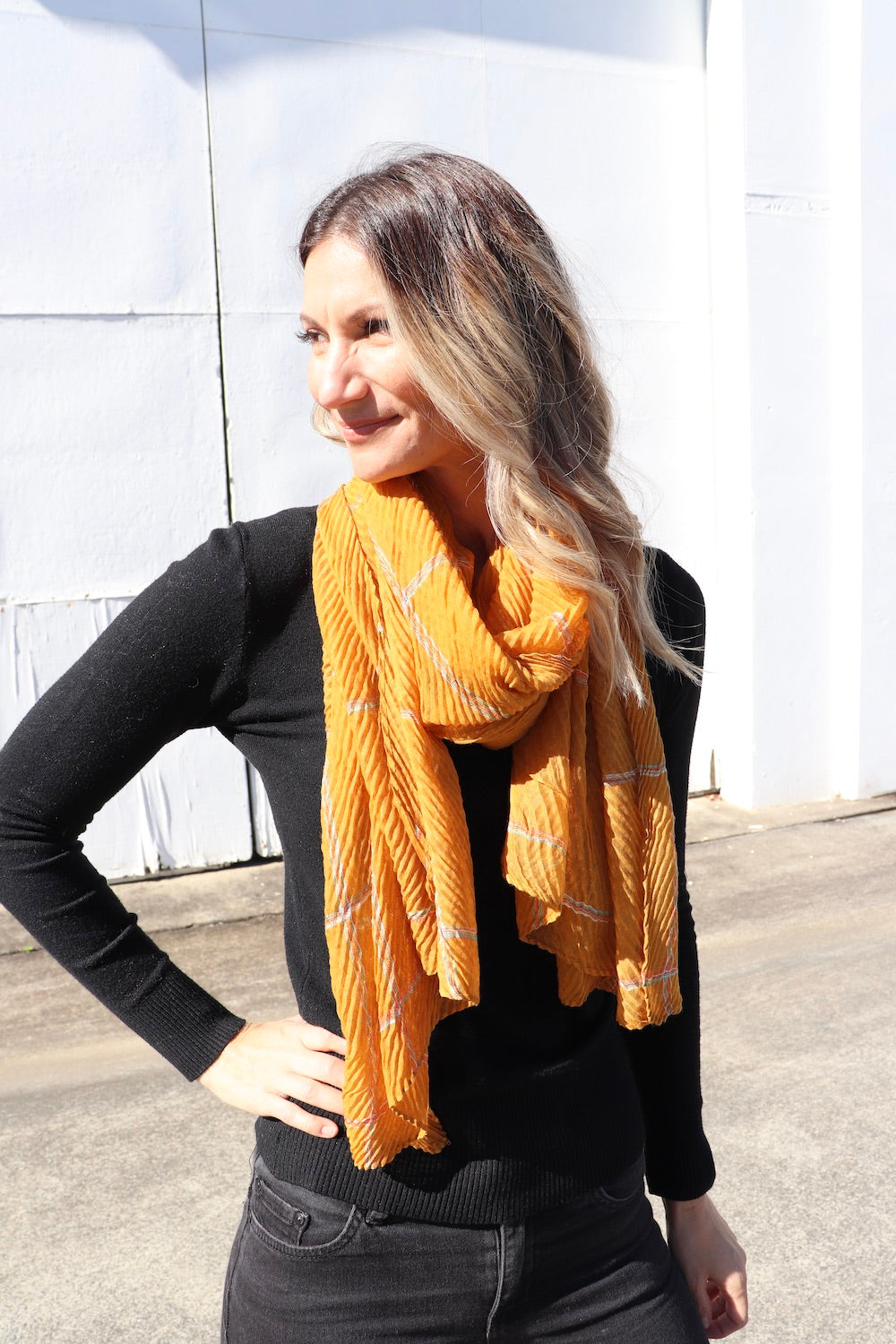 Everyday Scarf In Mustard