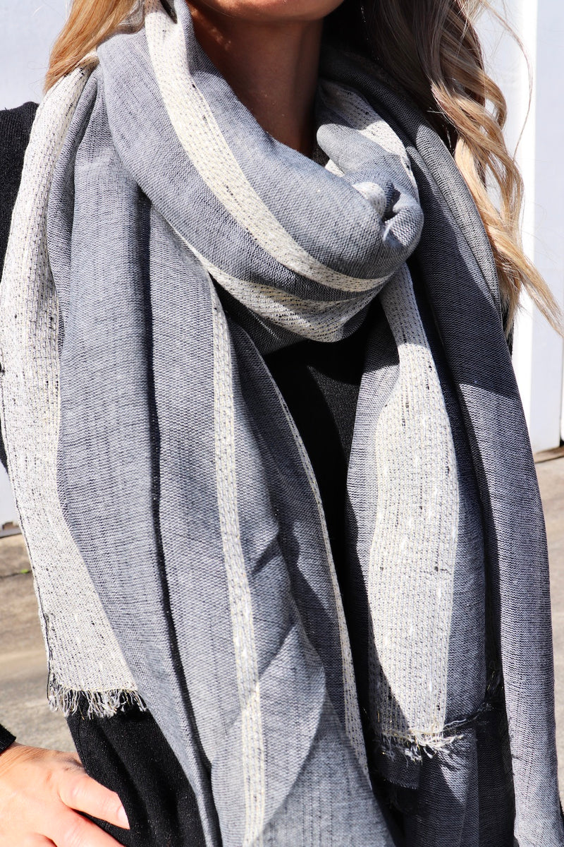 All Class Scarf in Chambray
