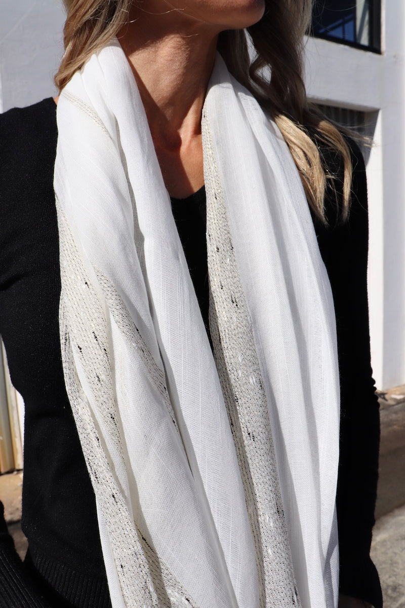 All Class Scarf in White